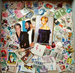 World-Mix-Stamps-500-pcs-with-Diana-miniature-sheets