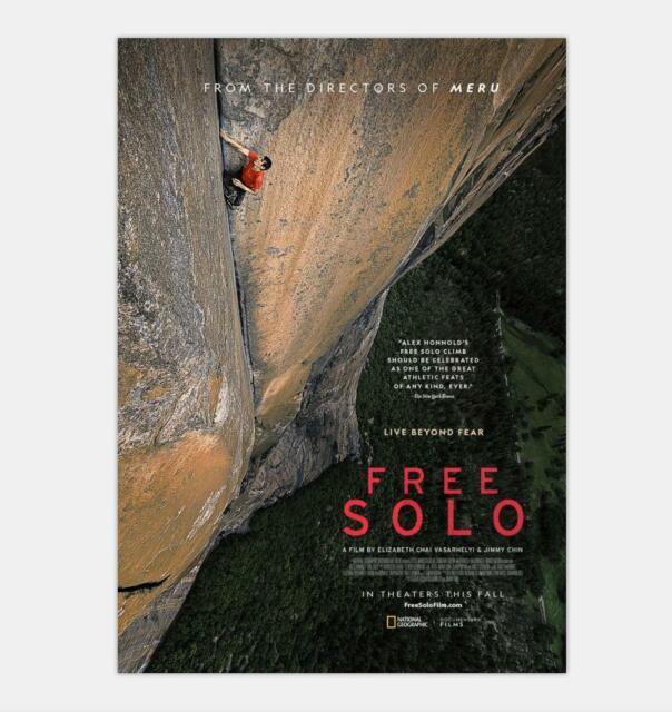 Free Solo Movie Alex Honnold Solo Climb Yosemite Doc 32x48 Poster Decor N-187