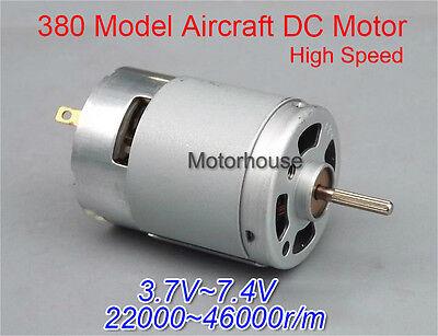 DC 3V 5V 6V 7.4V 9.6V 24000RPM High Speed High Power RS380 Motor DIY RC Aircraft