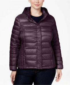 871312f170b5 32 Degrees Plus Size Hooded Packable Down Puffer Coat MSRP  120 0X ...