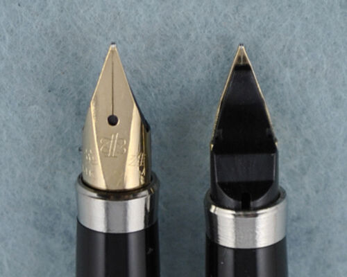 Hero 200A Steel Fountain Pen 14K Gold Fine Nib Golden Clip Without Box