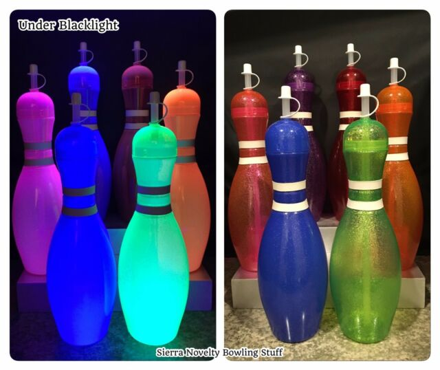 Large Bowling Pin Water Bottle Party Favor Choose Your Color 24 pack