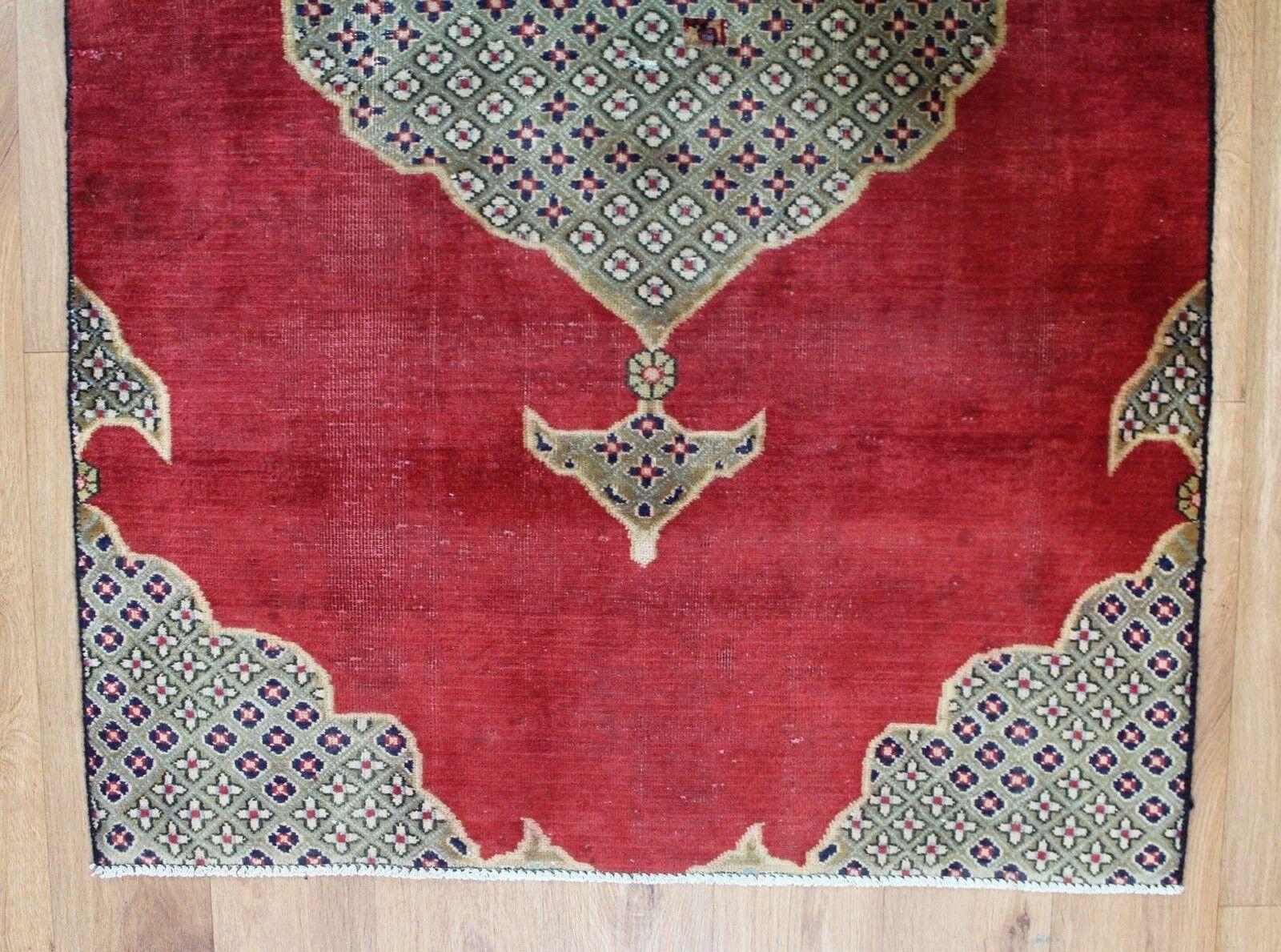Traditionnel Vintage Vintage Vintage Laine Fait Main Classique Oriental Zone Tapis Tapis 147 X94cm | Une Bonne Conservation De La Chaleur  eb2d8c
