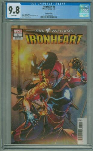 Ironheart #1 CGC 9.8 1:25 Variant 1st Iron Heart Solo Series Marvel 2019