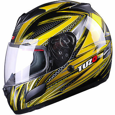 Tuzo Insight Full Face Motorcycle Scooter Crash Helmet Clear Visor Polycarbonate