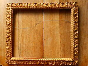 Ornate-Antique-Picture-Frame-Baroque-Gold-Gesso-Gilt-Fine-art-fits-apx-17x14-034