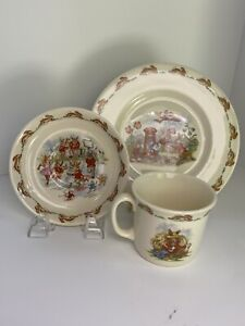 Vintage-Royal-Doulton-Bunnykins-Cup-Saucer-and-Plate-Set