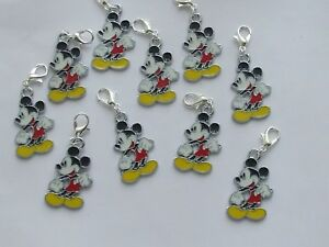 Set-of-10-Stitch-Markers-MICKEY-MOUSE-Knitting-Crochet-Charms-Accessories-etc