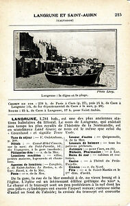 14 Langrune et St-Aubin-sur-Mer 1927 photo + guide (2 p.) casinos fêtes plage 1fXWIwiA-08022653-560852186