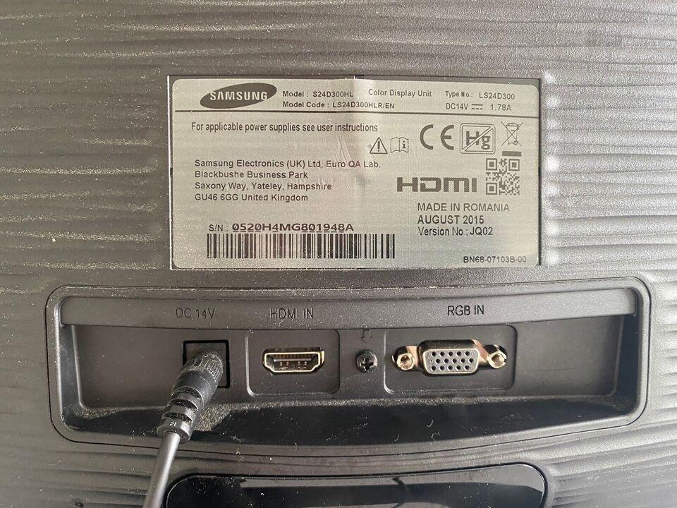 Samsung, fladskærm, S24D300HL