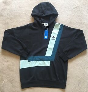 Details about NEW Mens Adidas BR8 Over The Head Hoodie Pullover Black Casual Gym LTD ED RRP£80
