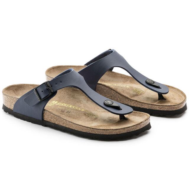 51e5b41ad6b Birkenstock Womens Gizeh - Blue 143621 Mens Sandals 45 EU (see Size ...