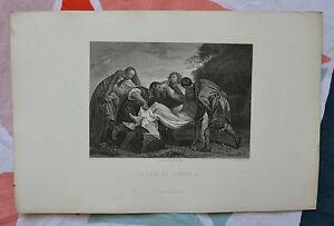 Belle Gravure Xixème - Jésus Au Tombeau - D'après Titien Par Ed. Willmann Hitbc7y4-08005540-431208003