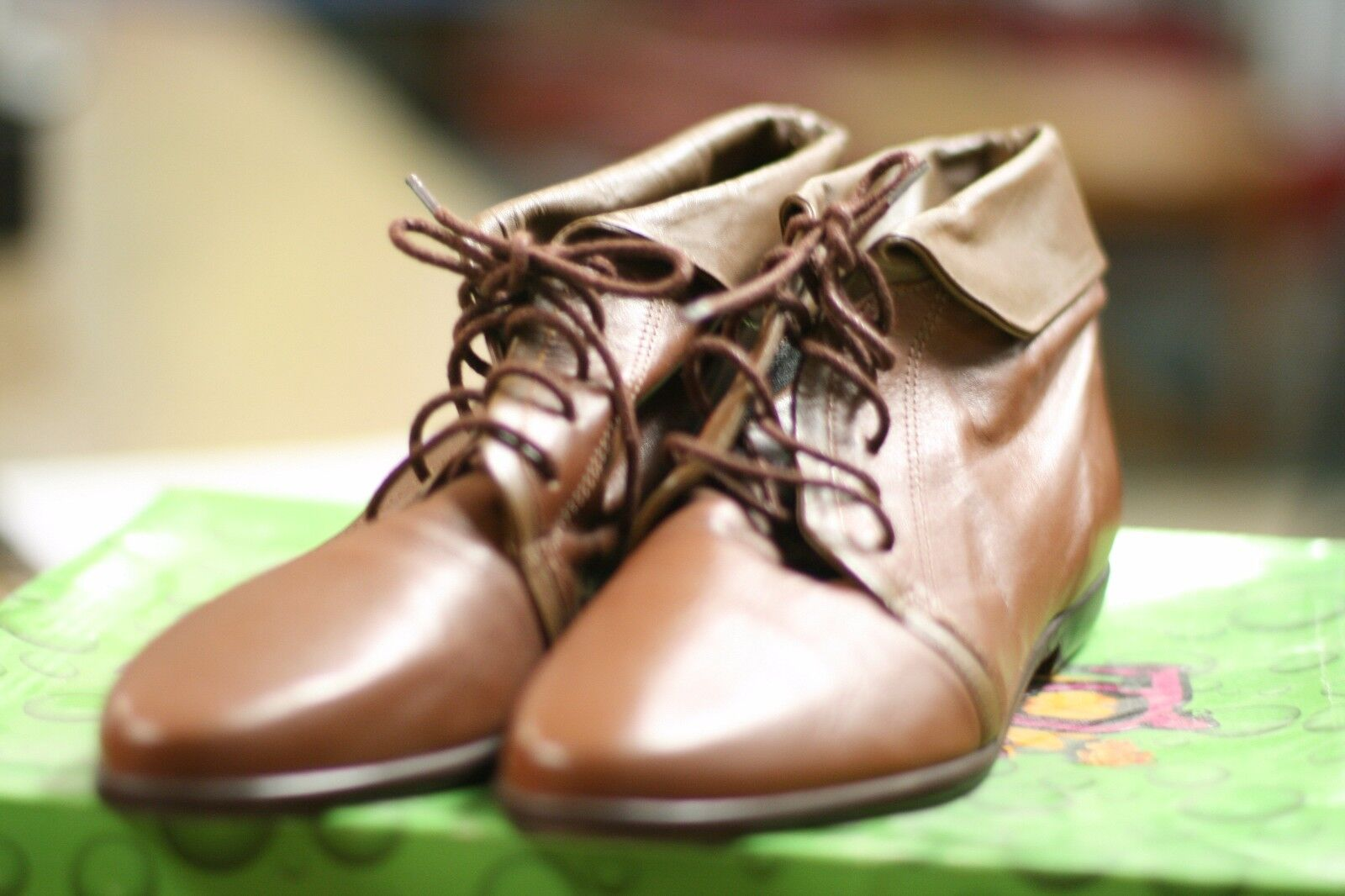 NINE WEST femmes FOOTWEAR Taille 7M marron Couleur LEATHER TOP WITH RUBBER SOLE
