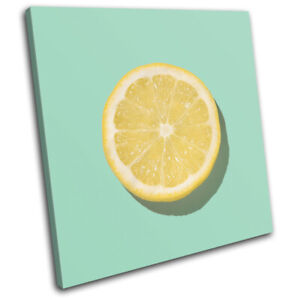 Modern-Lemon-Concept-Fruit-Food-Kitchen-SINGLE-CANVAS-WALL-ART-Picture-Print