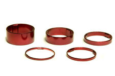 """NEW TOKEN 1-1//8/"""" ALLOY HEADSET SPACER 3PCS//SET RED 5-10-15MM"""