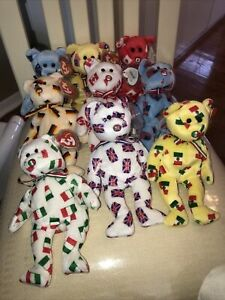 ty beanie babies extremely rare set of nine flag nose Pippo MWMTs
