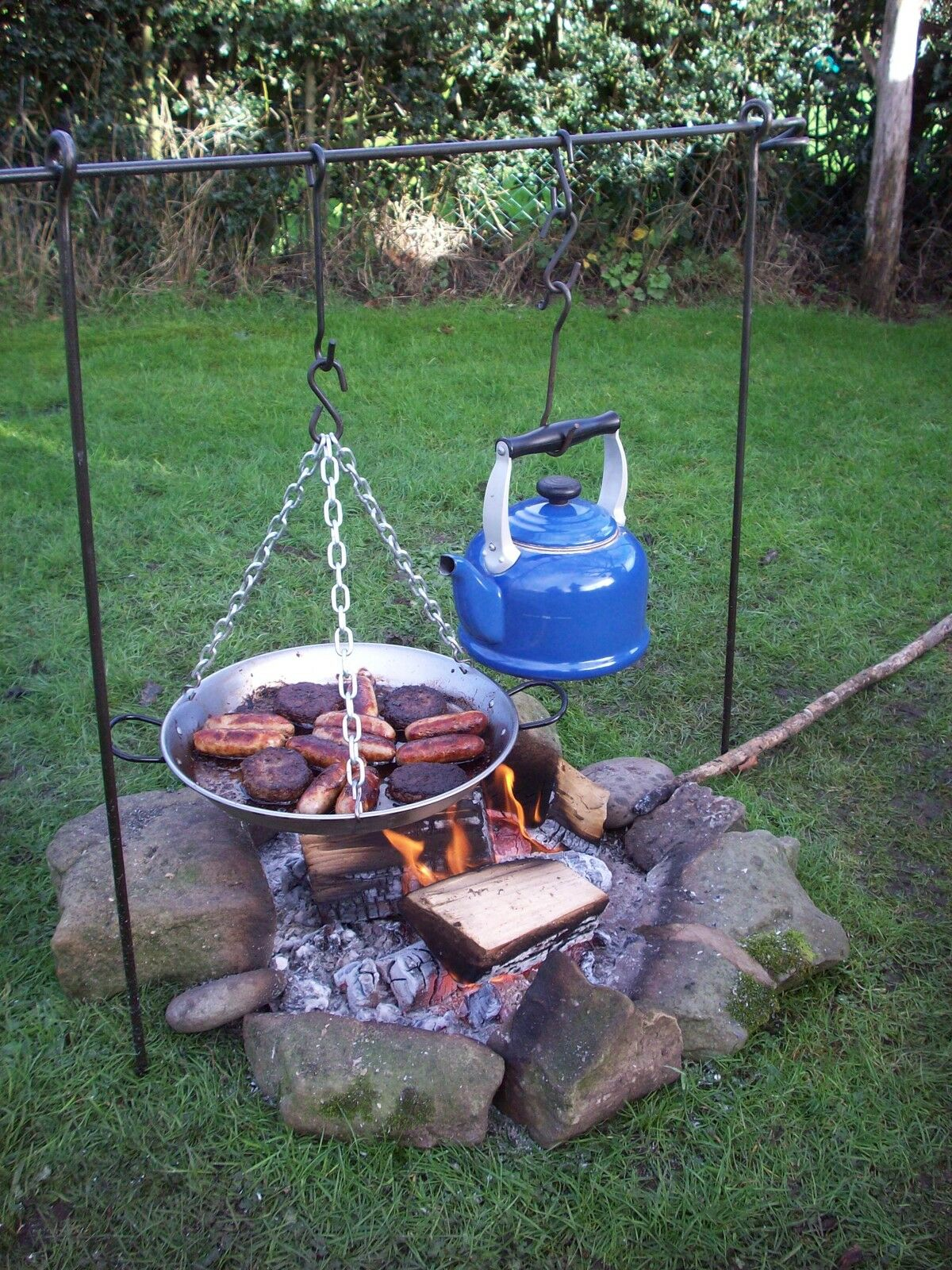 Cooking Tripod   Skillet Pan Bushcraft Camping Cooking Dutch Ovan Frying Pan