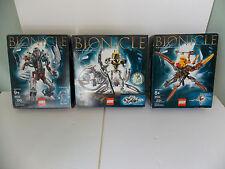 2003 LEGO Bionicle 8593 Makuta 8594 Jaller & Gukko 8596 Takanuva 100% Complete