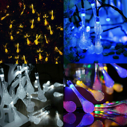 Solar Christmas Lights Outdoor LED String Fairy Light Holiday Party Decorations