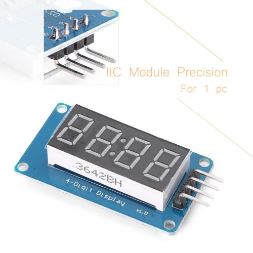 4 Bits TM1637 Digital Tube LED Clock Display Module Arduino Due UNO 2560  R3 ss