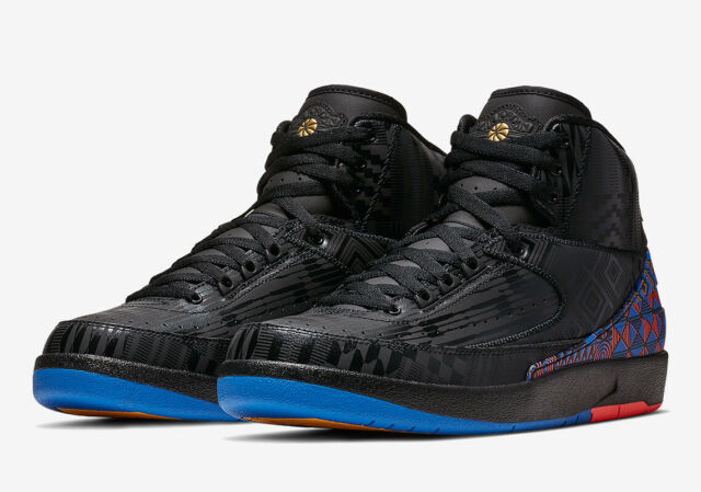 uk availability 1f87d a9f89 Nike Air Jordan Retro 2 BHM Black History Month BQ7618-007 Mens Basketball  Shoes
