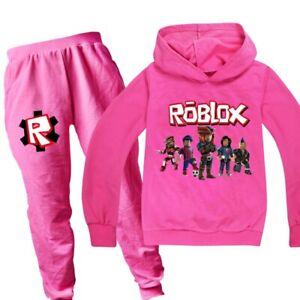 New Roblox Fashion Girls Casual Sports Hoodie Kids Set Ebay