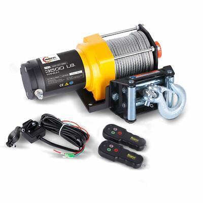 Orange RUGCEL Recovery Wireless Winch 2 Remote Control Kit Handset Switch Car Jeep ATV SUV 12V