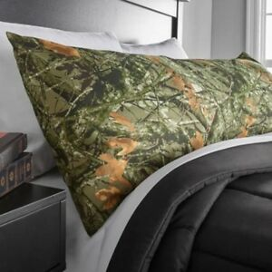 Microfiber-Body-Pillow-Cover-Case-Polyester-Unisex-Bed-Bedding-Green-Camouflage