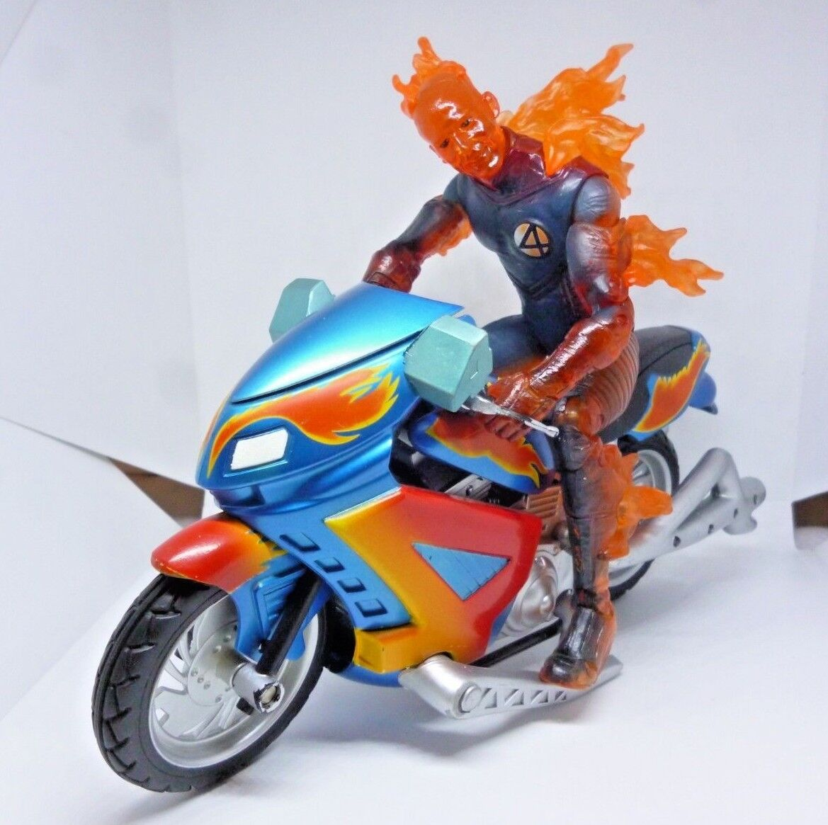 Marvel Legends HUMAN TORCH w Motorcycle & Electronic Feature (Fantastic Four)