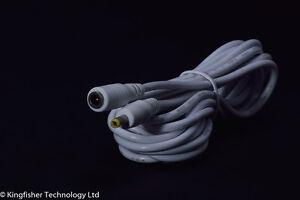 4.0mm X 1.7mm Dc Barrel Jack Mâle Vers Femelle 3m Blanc Extension Câble D'alimentation 4mm-afficher Le Titre D'origine CaractéRistiques Exceptionnelles