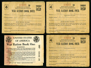 US-WWII-Lot-of-7-Ration-Books-with-Stamps-Inside