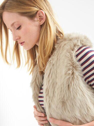 Women's Gap Size Vest Cream Pels Faux E1026 L Nwt 865740 a5Bwv7qn7