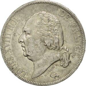 452663-France-Louis-XVIII-5-Francs-1820-Rouen-TB-Argent-KM-711-2-Gad