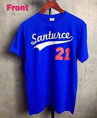 Roberto Clemente Santurce 21 Puerto Rico Baseball T-shirt Size Large