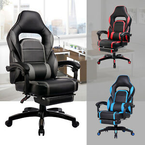 Strange Details About Gtracing Ergonomic Swivel Gaming Chair Racing Style Adjustable Recline Footrest Bralicious Painted Fabric Chair Ideas Braliciousco