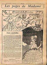 Madame Mode Fashion Paris Canotiers Ceinture Ruban Mimi Pinson Robes WWI 1916