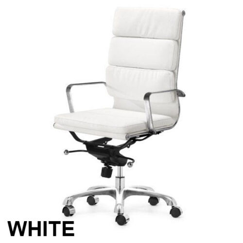 High Back Soft Padded Executive Management Office Chair PU LEATHER