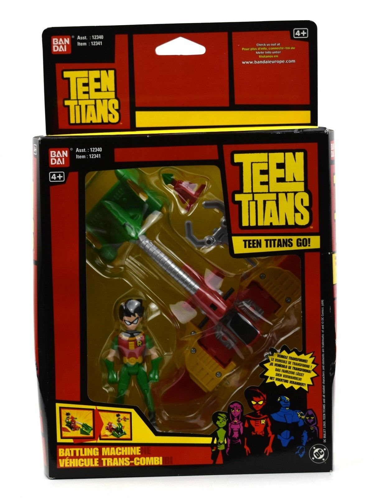 DC Teen Titans Go - Robin Vac-Cycle Transforming Vehicle Action Figure Set