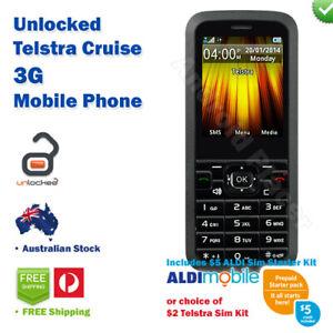 Brand-NEW-Telstra-Cruise-3G-Mobile-Phone-BONUS-5-ALDI-or-2-Telstra-SIM-Kit
