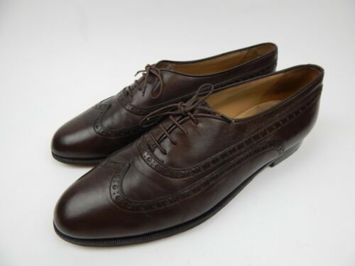 Vintage Gucci Brown Leather Wingtips Dress Shoes M