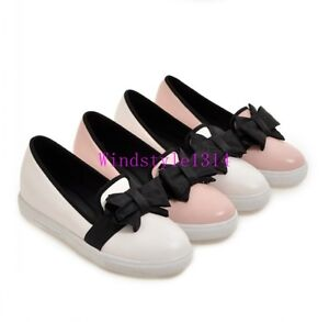 Casual-Women-039-s-Loafers-Shoes-Pumps-Slip-Ons-Sweet-Bowknot-Flat-Heel-Round-Toe-SZ