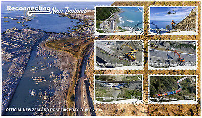 Nz 2018 Fdc Reconnecting New Zealand 6v Set Cover Bridges Trains Stamps