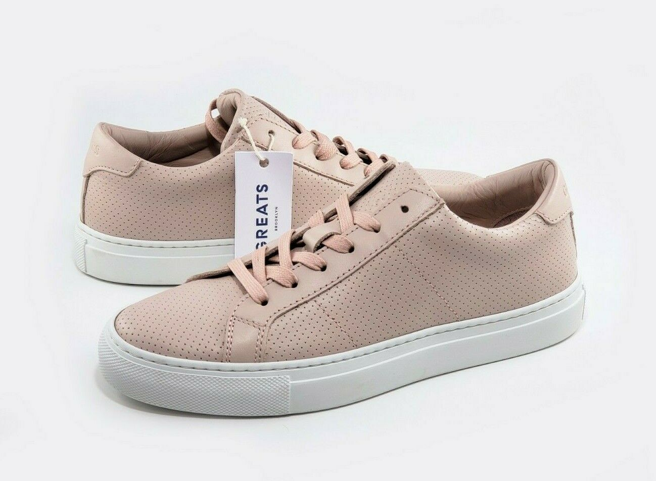 NEW Greats Royale Womens shoes bluesh Perforated Leather Italian Sneaker Sz 9.5