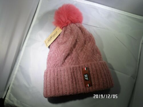 US Same day shipping! Women winter Beanie hat knitted double soft-lined Pom Pom