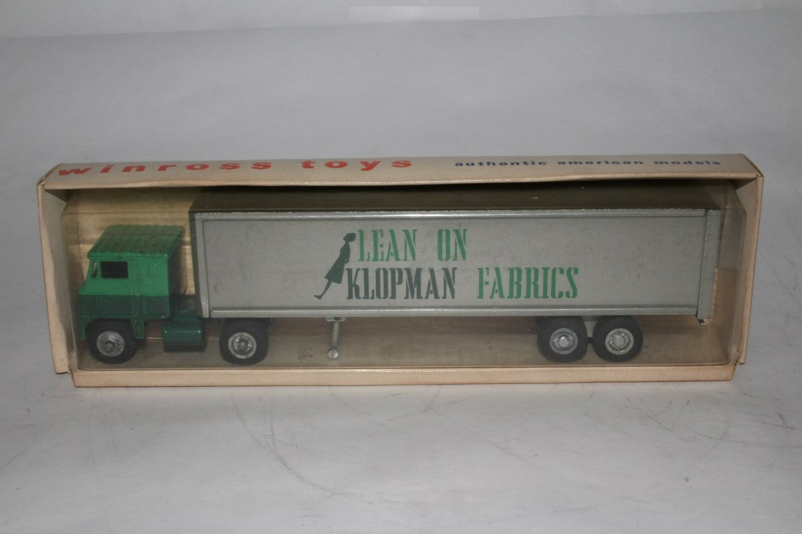 Winross 1970 Klopman Fabrics Semi Truck, Nice with Original Box