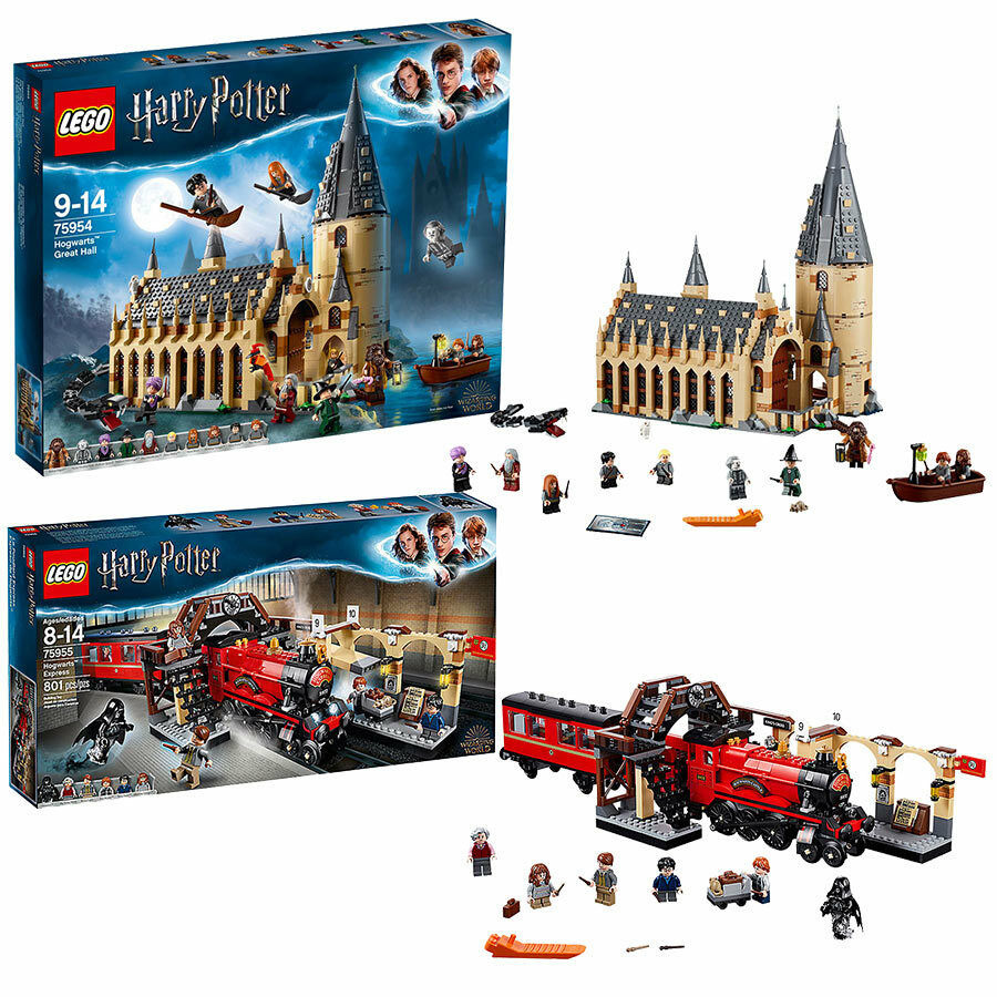 Lego Harry Potter Grand Hall & Poudlard Express Bundle 75954 75955