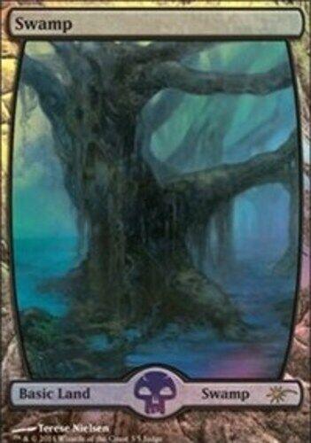 Swamp - Full konst - Foil DCI Domare Promo, NM -Mint, English, MTG Promos MTG