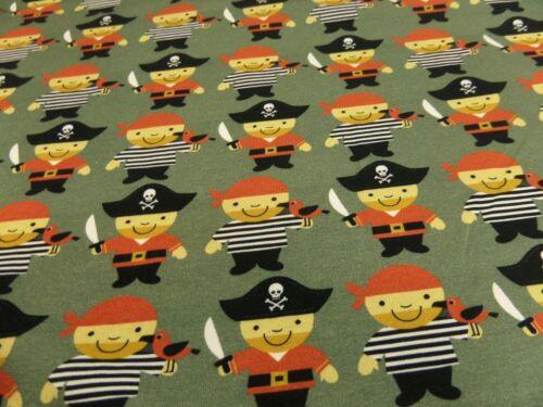 """motivos Los niños de tela /""""piratas/"""" jersey 145 cm br BW-mezcla mehrfarb m"""