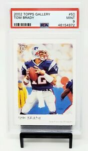 2002-Topps-Gallery-Patriots-Great-TOM-BRADY-Early-Years-Football-Card-PSA-9-MINT